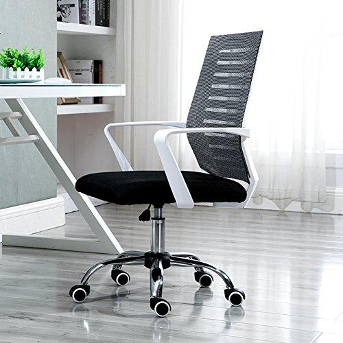 PC CHAIRS Schreibtischstuhl Hoch zurück Bürostuhl schreibtischstuhl Netzrücken Ergonomischer chefsessel Mit armlehne Drehstuhl Lift-Funktion-C 90x63x50cm(35x25x20)