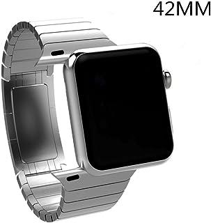 Haotop Compatible for lWatch アップル ウォッチ バンド マグネットロック設計 ステンレス留め金製 ベルト 高級腕時計ストラップ/バンド (42mm/44mm, 銀)