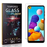 UNEXTATI 1 Pack Screen Protector Compatible with Galaxy A21, 9H Ultra Clear Tempered Glass for Samsung Galaxy A21, Anti Scratch, Anti Fingerprint