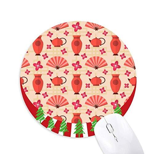 Japan Vase Teekanne Fan Sakura Rund Gummi Maus Pad Weihnachtsdekoration
