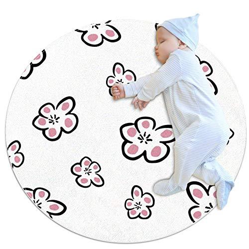 DEDEF Teppich mit Cartoon-Blumen, groß, rutschfest, zottelig, weicher Teppich, Schlafzimmer, Boden, Zuhause, Küche, Badezimmer, Dusche, Putzmatte für Kinder