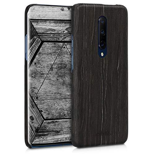 kalibri Cover Compatibile con OnePlus 7 PRO in Legno Naturale e aramide - Wooden Case Porta Cellulare Cover Rigida - Custodia Protettiva Ultra-Slim