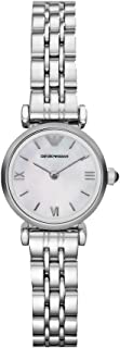 Emporio Armani Women's Quartz Watch with Stainless-Steel Strap, Silver, 10 (Model: AR1763)