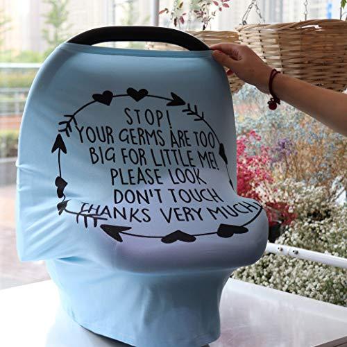 LUCOG Pas Cher Auvent de siège d'auto, Couverture d'allaitement Extensible pour bébé Prix réduit Soins bébé pour Saint-Patrick et Pâques