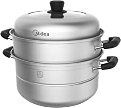 XMDD Steamer,stainless Steel Steamer, Steamer, Thick-bottom 3-layer Cooking Pot, Household Large-caliber Double-bottom Gas...