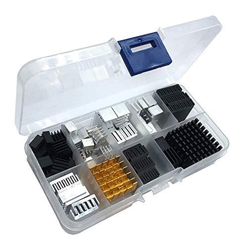 SODIAL 88Pcs Kit de Disipador de Calor Tama?O Peque?O una Mediano para Placa de Desarrollo de RefrigeracióN Laptop CPU GPU VGA IC Chips