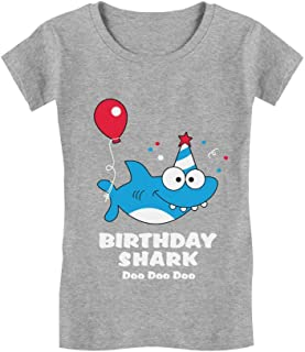 Birthday Shark Doo doo Song Funny Gift Toddler/Kids Girls' Fitted T-Shirt