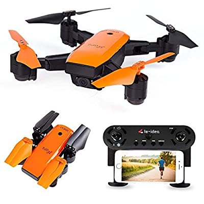 LE-IDEA IDEA7 GPS WI-FI FPV RC Drone with Camera Live Video and GPS One Key Return Home Quad copter with Map Appear and Route Drawing,720P HD Camera FOV 120° - Follow Me, Altitude Hold,Auto Surround from Le-idea