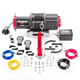 Rhino - Electric Winch 2040 Kg / 4500 Lb - Wireless Remote Control 12V - Dyneema Cable Harder Than Steel