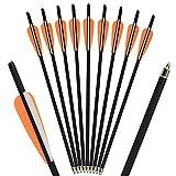 SHARROW 18pcs Frecce Balestra Bulloni Freccia di Carbonio 16' 17' Frecce per Balestra Crossbow Arrows (Arancione, 17')