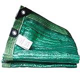 HYHMJ-Bloqueador De Sol Red De Sombra Diseño De Doble Capa Paño De Sombra Malla Viento Y Protección UV Malla Sombreo HDPE Exterior Jardín Invernadero Malla Toldos,Verde,3.5x5m