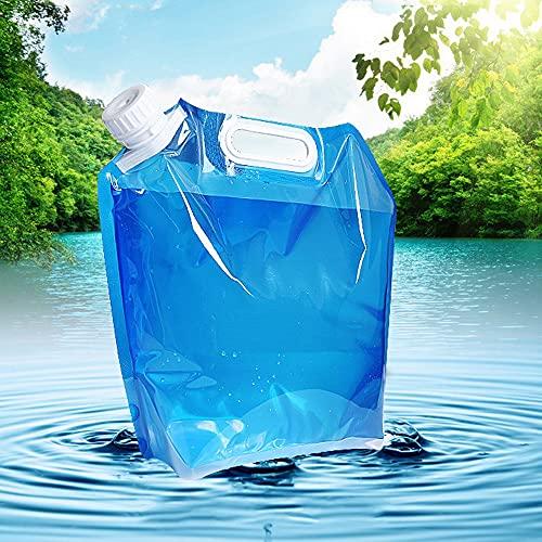 Taotuo 10 L de agua potable, plegable, contenedor de almacenamiento al aire libre, bolsa de agua para deportes, camping, senderismo, picnic, barbacoa