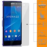 zanasta 3 Stück Bildschirmschutz Folie kompatibel mit Sony Xperia Z2 Glasfolie aus Gehärtetem Glas Panzerfolie Schutzglas | HD Klar Transparent