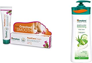 Himalaya Wellness Foot Care Cream | Moisturizes and Soothes Feet |, 50gm and Himalaya Herbals Aloe and Cucumber Refreshing...