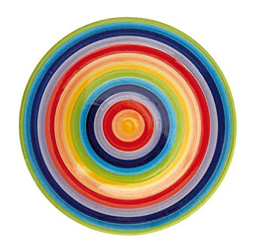 Colores del arcoíris de cerámica Windhorse 26 cm plato llano (tamaño grande)