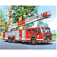JXRDG 5d Diy Diamond Painting Fire engine Full Square Daimond Paintings man dream Diamant Embroidery Home Decoration Cross gift 30x45cm no frame