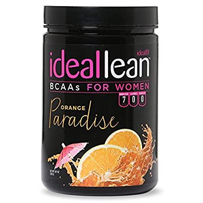 IdealLean BCAA for Women ? Amino Acids for Women | Maximize Fat Burn & Lean Muscle Growth | Aids Weight Loss | Post Workout Recovery Drink | 0 Calories, 0 Sugars, 0 Carbs | 12 oz.