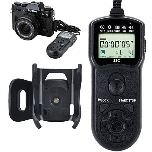 JJC Shutter Release Timer Remote Control for Fujifilm GFX100 X-T30 X-T3 GFX 50S GFX50R X-H1 X-Pro2 X-T2 X-T1 X-T20 X-T10 X-T100 X-E3 X-E2S X-A5 X-A10 X100F X100T X70 X30 XF10 Replaces RR-100 RR-90