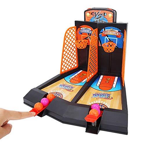 Bnineteenteam Basketball-Tisch-Spiel, 2-Spieler-Mini-Basketball-Schießspiel Spielzeug für Kinder und Familie