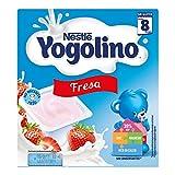 Postre lácteo - NESTLÉ YOGOLINO con Fresa - Para bebés a partir de 8 meses - Paquete de 4 tarrinas de postre lácteo de 100g