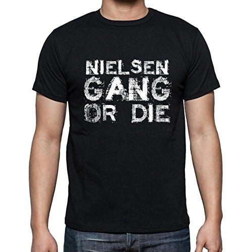 Nielsen Family Gang, Camiseta para Las Hombres, Manga Corta, Cuello Redondo, Negro