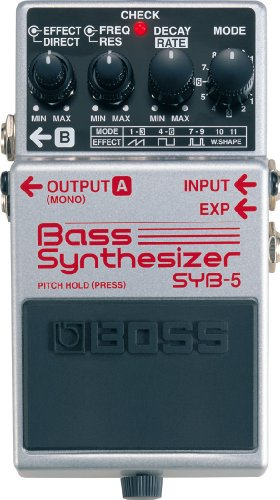 BOSS Bass Synthesizer Guitar Pedal, Silver (SYB-5)