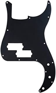 Musiclily 13 Hole Precision Bass Pickguard P Bass Scratch Plate Fits American USA/Mexican Fender Precision Bass,3Ply Black