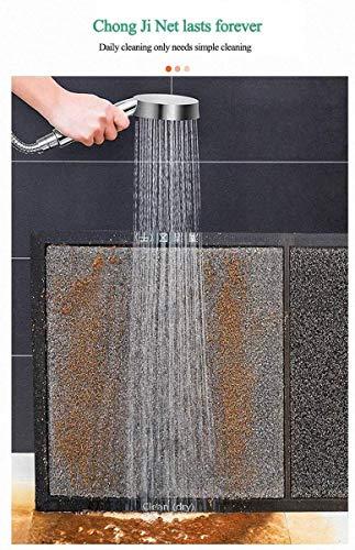 Queta Alfombrilla Desinfectante de Calzado Alfombra Exterior para Puerta Almohadilla Absorbente De Agua Antisuciedad Impermeable Lavable para Atrapar Suciedad para Recibidor (Gris)