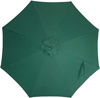 Crestlive Products Universal Patio Umbrella Replacement Canopy for 10ft 8 Ribs Offset Umbrellas (Dark Green)