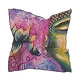 MALPLENA Buda Lotus flor bufanda de la cabeza bufanda de la mujer grande cuadrado bufandas cálido chal Wrap suave