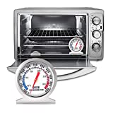 Nemor Oven Thermometer 100-600F, Stainless Steel Grill Thermometer, Instant Read Large Dial Smoker