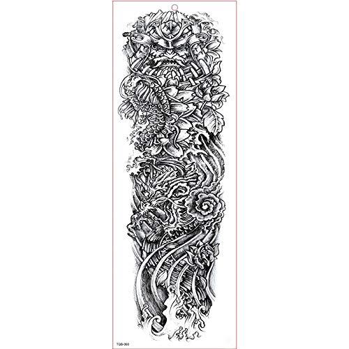 4 Stück 17X48CM Wasserdicht Temporäre Tattoos Fake Tattoos Body Art Tattoo Aufkleber Mädchen Löwe Rose Engel Schwarz Und Bunt Transfer Tattoos Für Arme Schultern Brust Rücken Beine Haut