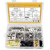 Picture Hanging Kit 500 PCS, Sutemribor Heavy Duty Assorted Picture Hangers with Screws for Picture Hanging Wall Mounting (500)