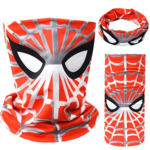 Tsyllyp Kids Boys Full-Coverage Tube Face Bandanas Balaclava UV Protection Neck Gaiter Superheros Halloween Mask