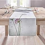 SIDCO Tischläufer Allium Tischtuch Tischband Tischdecke Frühling Schmetterling 40x150 - 5