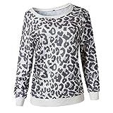 Womens Sweatshirt Long Sleeve Casual Camo Pattern T Shirt Women Leisure Round Neck Loose T Shirts Fashion Shoulder Off Sweatshirt Comfy Blouse Tops L
