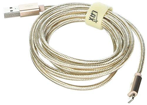LAX Gadgets Apple MFi Lightning Cable, Gold, 6 Feet