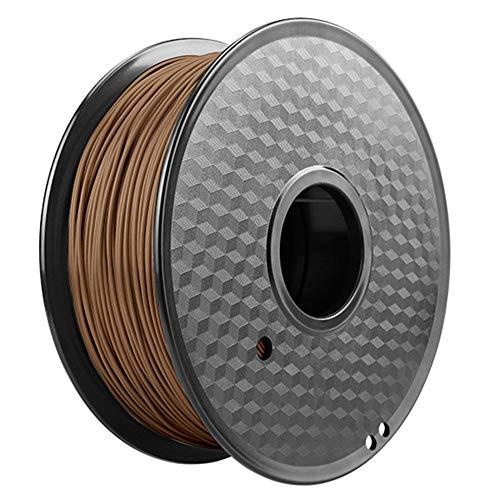 PLA-Druckerfilament 1,75 mm, 3D-Druckerfilament 1 kg (2,2 lb), hohe Reinheit, bietet eine Vielzahl optionaler Farben-Braun