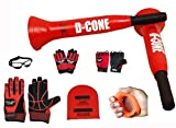 Ball Hog Gloves Total Bundle (Weighted) X - Factor Gloves, D-Cone 3 in 1 Defender, Grip, Weight Lifting Gloves (Medium)