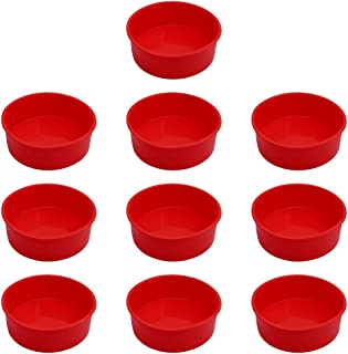 """10Pcs Silicone Cake Molds Tins Round Cake Pan Set of 4"""" Non-Stick Baking Molds Bakeware Tray for Birthday Party Wedding An..."""