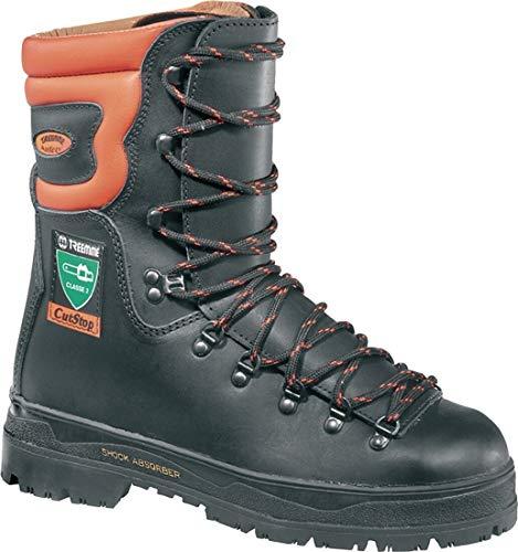 baumarkt direkt Schnittschutz-Stiefel 47, orange, schwarz