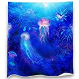 Loong Design Jellyfish Throw Blanket Soft Fluffy Premium Sherpa Fleece Blanket 50'' x 60'' Fit for Sofa Chair Bed Office Travelling Camping Gift