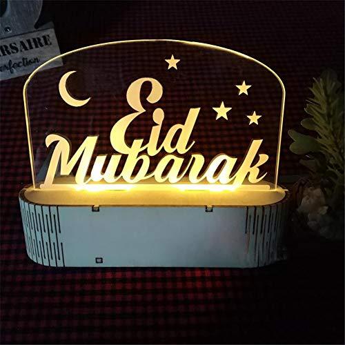 lembrd 3D EID mubarak LED bureaulamp Eid Al-Fitr Decoratie nachtlampje tafellamp voor moslim cadeau