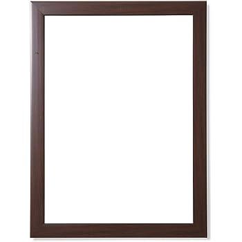 Frame N Art Decorative Wooden Finish Water Proof Vanity Wall Mirror Glass for Living Room, Bathroom, Bedroom (CGC-32) (18 x 24)
