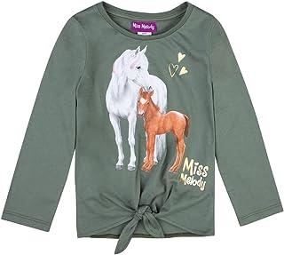 Miss Melody Niñas T-Shirt, Camisa de Manga Larga, Verde