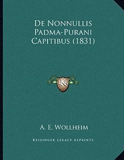 De Nonnullis Padma-Purani Capitibus (1831)