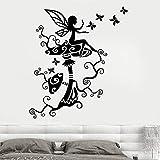 Calcomanías de pared de vinilo de cuento de hadas sala de estar decoración del hogar dormitorio cuento de hadas crema de champiñones pegatinas de pared para guardería habitación de niños 36x42cm
