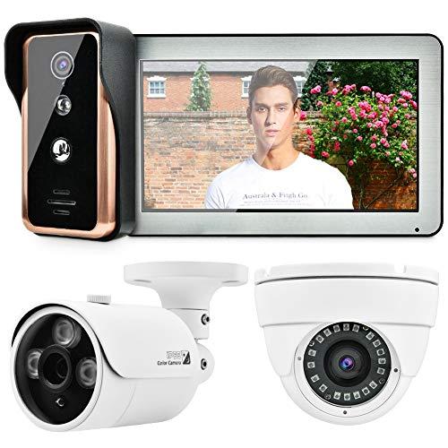 10 inch WiFi bedraad video-deurintercom met AHD 720P externe bewakingscamera voor thuisbeveiligingssysteem HD display en binnenmonitor EU