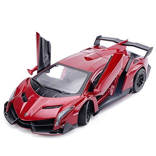 ACMTY 1:24 maßstab Veneno Alloy Diecast Auto-Modell Spielzeug Gummireifen Öffnende Tür Design for Kinder Erwachsene Sammeln ( Color : Rot )