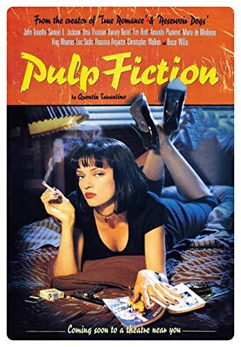 Blechschild 20x30cm gewölbt Pulp Fiction Travolta Thurman Tarantino Kino Film Deko Geschenk Schild